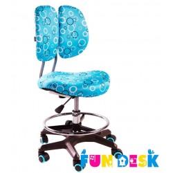 Детское кресло FunDesk SST6 (Голубой, Серебро)