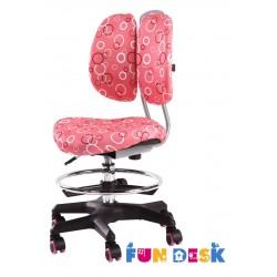 Детское кресло FunDesk SST6 (Розовый, Серебро)