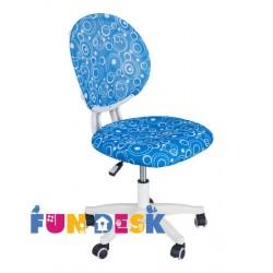 Детское компьютерное кресло FUNDESK LST1 (Синий с кольцами, Белый)