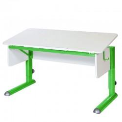 Парта для школьника для дома МОНО-2 (Белый, Зеленый)