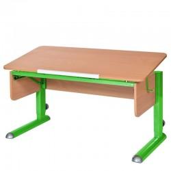Парта для школьника для дома МОНО-2 (Бук, Зеленый)