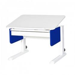 Парта для первоклассника Юниор с ящиком (Белый, Синий, Белый)