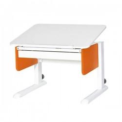 Парта для первоклассника Юниор с ящиком (Белый, Оранжевый, Белый)