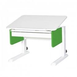 Парта для первоклассника Юниор с ящиком (Белый, Зеленый, Белый)
