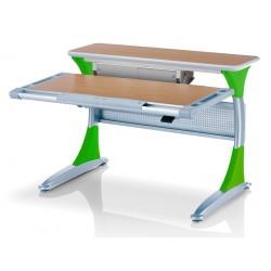 Ученический стол Гарвард с ящиком (Бук, Зеленый)