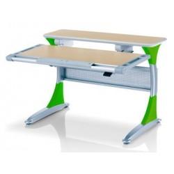 Ученический стол для детей Гарвард без ящика (Клен, Зеленый)