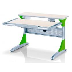 Ученический стол для детей Гарвард без ящика (Беленый дуб, Зеленый)