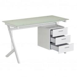 Компьютерный стол Rifforma CT-3365DG (Белое стекло, Белый)