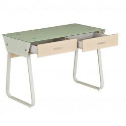 Компьютерный стол Rifforma CT-3311G (Стекло, Светлая вишня, Белый)