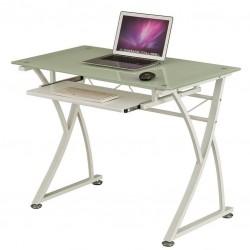 Компьютерный стол Rifforma CT-3506 (Белое стекло, Белый)