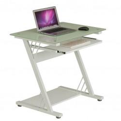 Компьютерный стол Rifforma CT-3312D (Белое стекло, Белый)