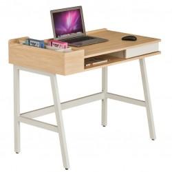 Компьютерный стол Rifforma CT-3582 (Светлый клен, Белый)