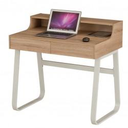 Компьютерный стол Rifforma CT-3532А (Светлый дуб, Белый)