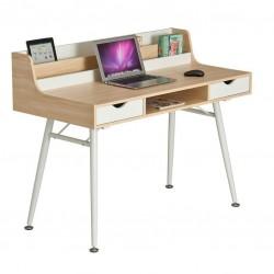 Компьютерный стол Rifforma CT-3562 (Светлый клен, Белый)
