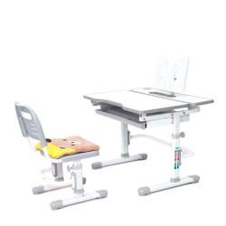 Комплект растущая парта и стул с чехлом Rifforma Comfort-07 (Белый, Серый)