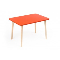 Детский столик Джери красный (Красный, Береза)