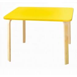Детский столик Мордочки желтый (Желтый, Береза)