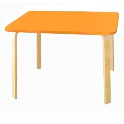Детский столик Мордочки оранжевый (Оранжевый, Береза)