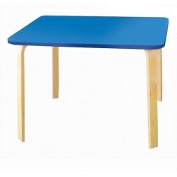 Детский столик Мордочки голубой (Голубой, Береза)