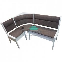 Угловой кухонный диван Кристофер с резьбой