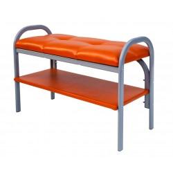 Банкетка на металлокаркасе Практик-7 (Оранжевый)