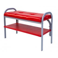 Банкетка на металлокаркасе Практик-7 (Красный)